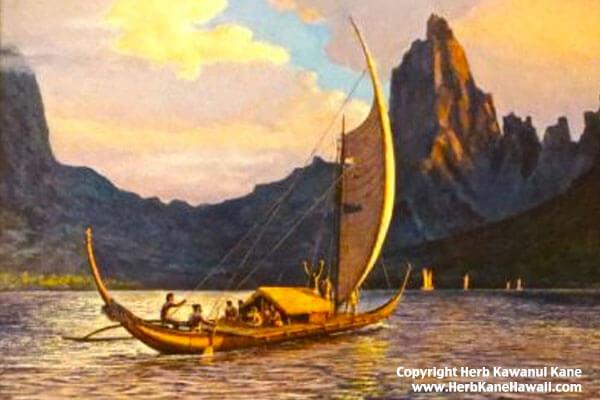 Tahitian Canoe